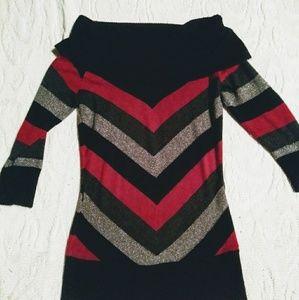 Vintage sparkly off shoulder sweater.